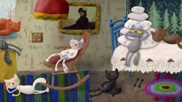 Веселая карусель № 41. Семь кошек [2015, мультфильм]